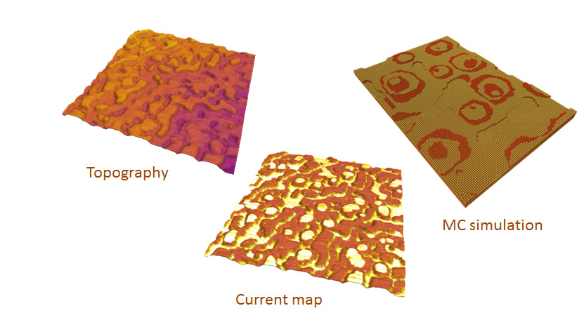 Surface Chemical Structuration in Functional Perovskite Thin Films